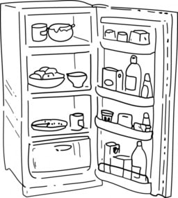 Intérieur d'un réfrigérateur