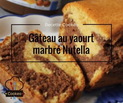 Gâteau au yaourt marbré Nutella