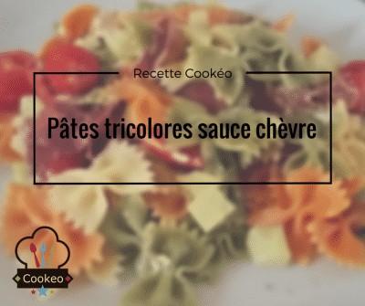Pâtes tricolores sauce chèvre