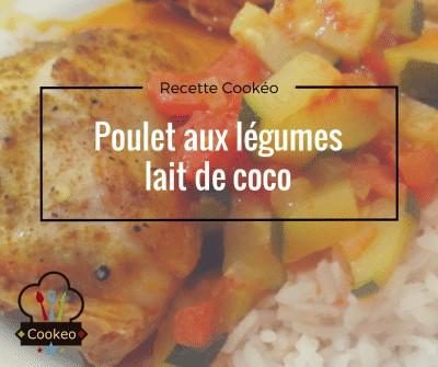 Poulet aux légumes lait de coco