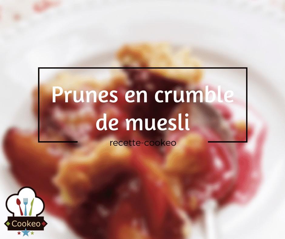 Prunes en crumble de muesli