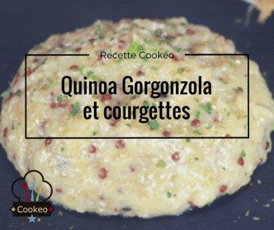 Quinoa Gorgonzola et courgettes