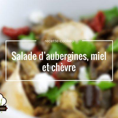 Salade d'aubergines, miel et chèvre
