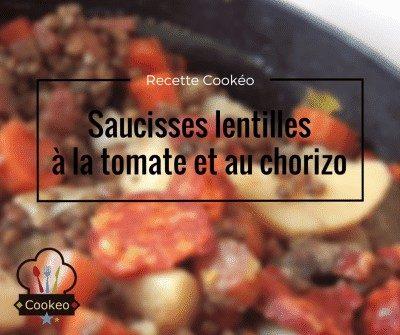Saucisses lentilles à la tomate et au chorizo