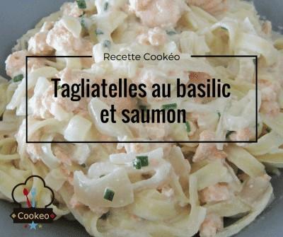 Tagliatelles au basilic et saumon