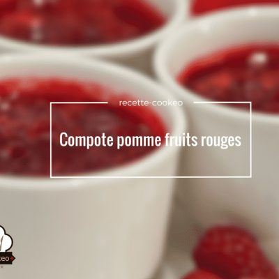 Compote pomme fruits rouges