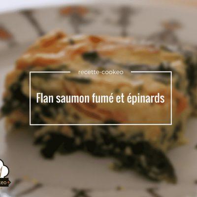 Flan saumon fumé et épinards
