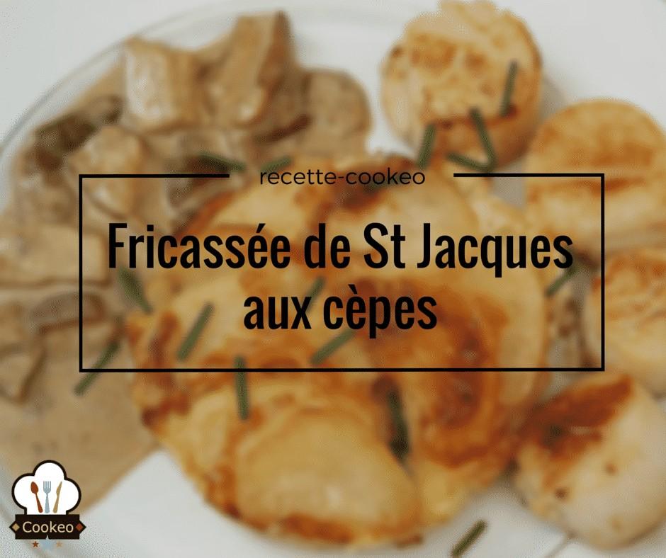 Fricassée de St Jacques aux cèpes