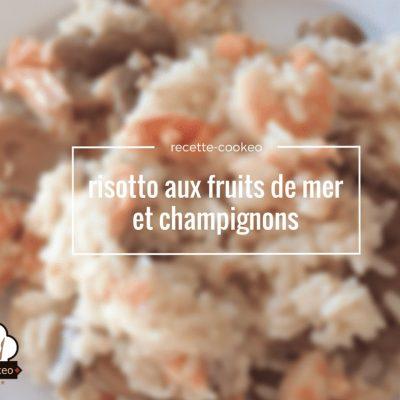 risotto aux fruits de mer et champignons