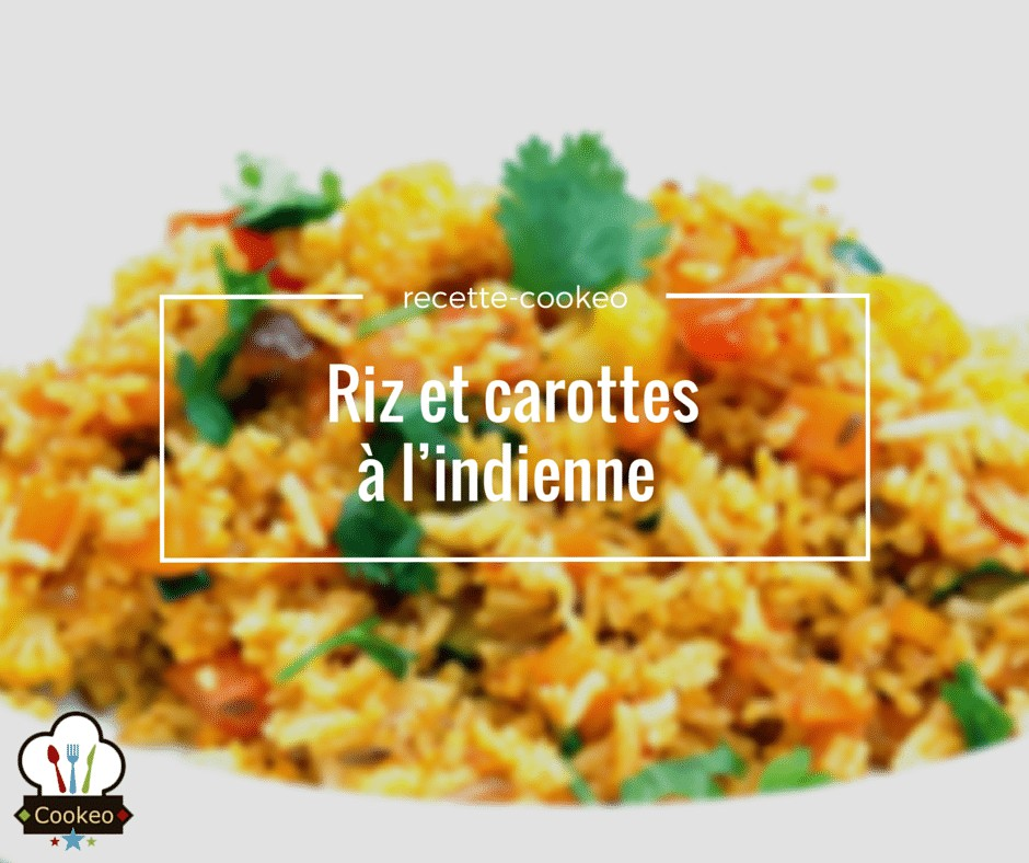 Riz et carottes à l'indienne
