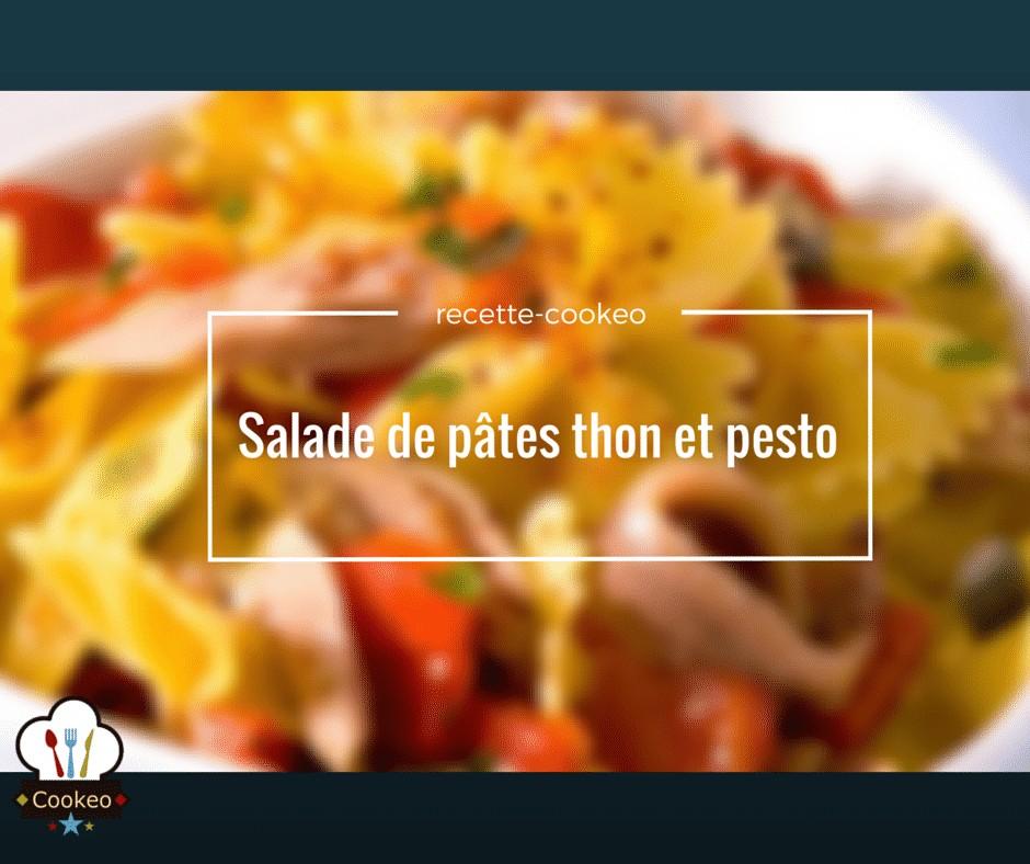 Salade de pâtes thon et pesto