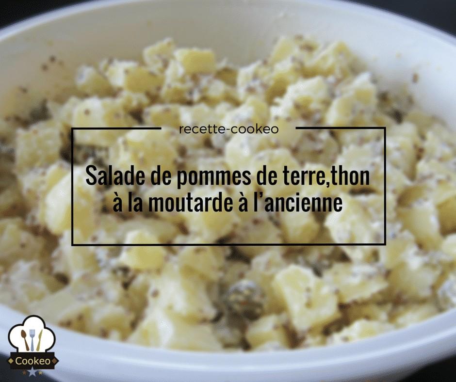 Salade de pommes de terre, thon à la moutarde à l'ancienne