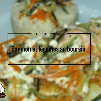 Saumon et légumes au boursin