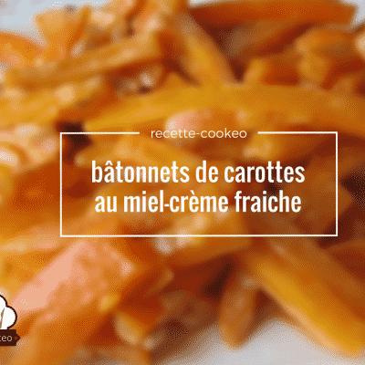 bâtonnets de carottes au miel creme fraiche
