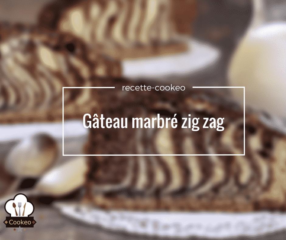 Gâteau marbré zig zag